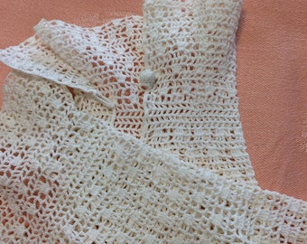 Vintage white crochet bridal wedding, evening, gloves