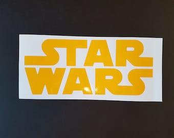 Star Wars logo sticker Vinyl decal