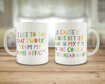 Working from home mug, Funny home office gift, WFHM mug, Etsy seller gift, Small business owner mug, small bizz gift, secret Santa gift