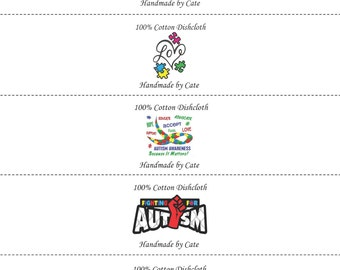 Autism A Dishcloth/Washcloth Labels - PDF File Only