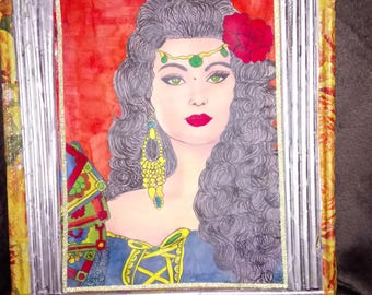 Bohemian bright color drawing