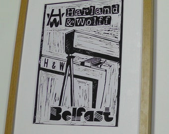 Northern Ireland Print- Harland and Wolff