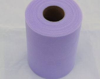 Lavender tulle roll - 6 inches - 100 yard - lavender rolls - tulle rolls -lavender fabric - light purple