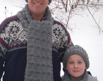 Dad and Son Hat & Scarf Sets
