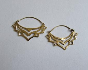 Brass Tribal Earrings, Earrings handmade,Bohemian Earrings with clasp, Nickel Free, Indian Jewellery, Gift boxed,Free UK postage BG1