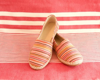 Handmade Espadrilles // Red & Multi-Color // Rio // Spring - Summer Shoes // Size 36-37