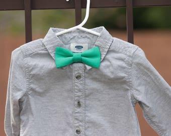 Seafoam green bow tie..green bow tie..groomsmen bow tie..boys bow tie..spring bow tie..wedding bow tie..newborn bow tie..cypress bo