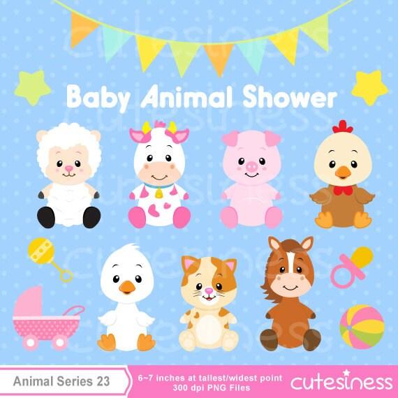baby animal clipart baby farm animals clipart baby shower rh etsy com baby jungle animals clipart baby animals clipart black and white