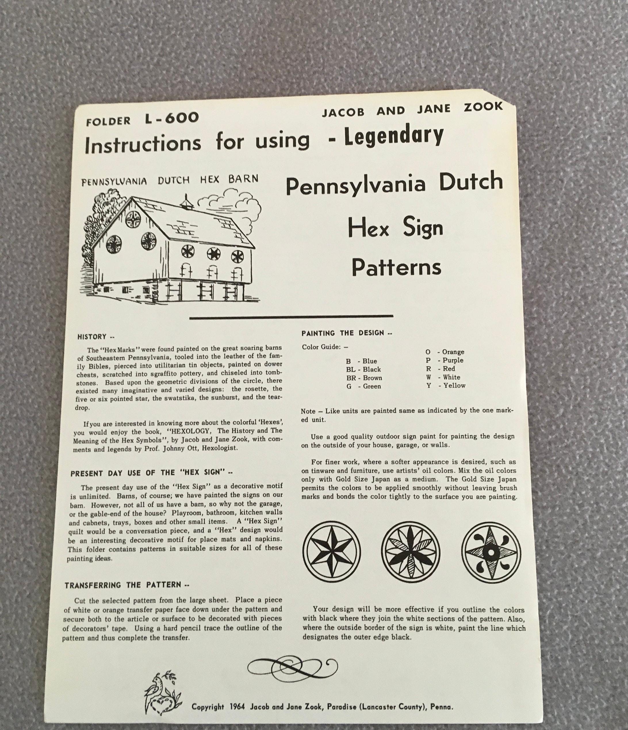 Vintage Pennsylvania Dutch Items Hex Sign Patterns Barn