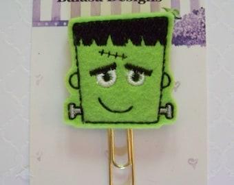 Frankenstein Halloween Planner Clip, Bookmark, Planner Accessory, Paper Clip