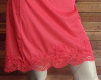 Vintage Lingerie 1960s SEARS Size Small Avg Red Half Slip