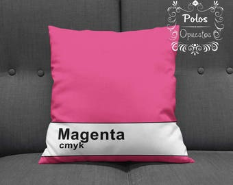 Sale !! CMYK Magenta - Pantone Pillow - Pillow Cover - Pillow Case - Cushion Case