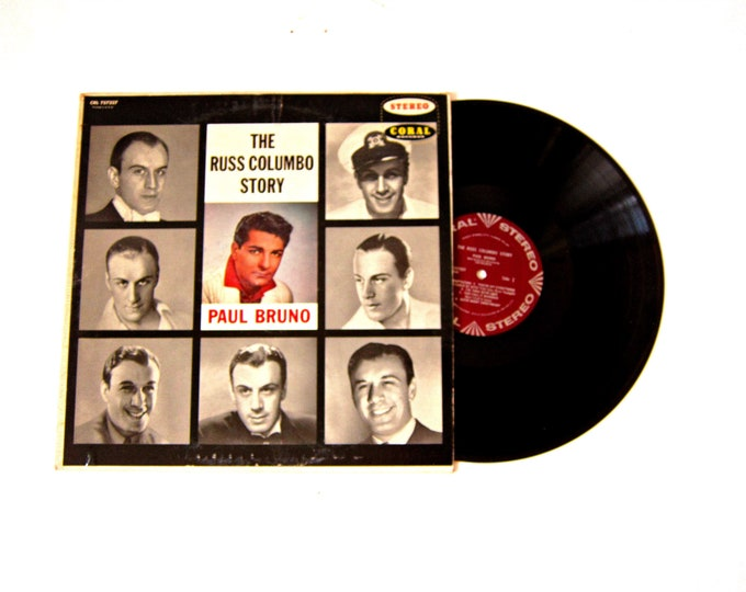 The Russ Columbo Story Paul Bruno Vinyl Album 12 Inch LP Vintage Coral Stereo Music Record Album