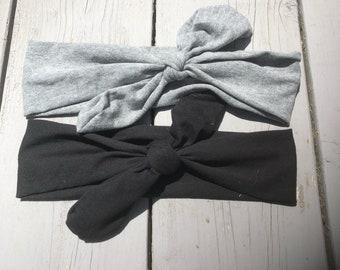 Top Knot Headband ~ Black Top Knot Headband ~ Gray Top Lnot Headband ~ Adult Top Knot Headband Baby Top Knot Headband