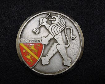 Swiss Sports Medal - Military Rifle Championship 1970 - vintage collectible item - Switzerland - standing lion