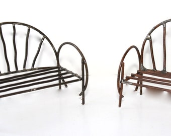 Metal Bench & Chair