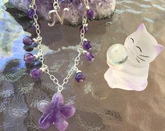 Natural Amethyst Chain Bracelet February Birthstone