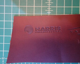 corporate branding of leather products. hot branding or laser