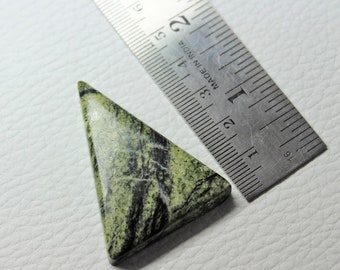 Serpentine Stone, Triangle Cabochon, Russian Serpentine, Serpentine Necklace, Jewelry Supplies, Size 45X37mm, MX#324