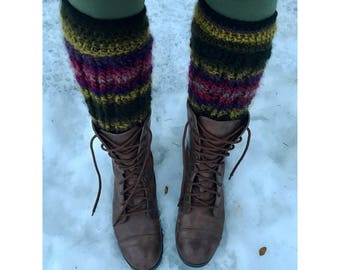 Cable stitch leg warmers
