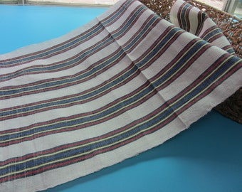 Natural hand weaving Fabric, 100% cotton fabric width 38cm,Hand Woven stripe fabric,Hand Woven Cloth