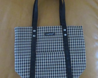 Longaberger Homestead Plaid Tote Purse