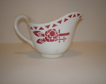Antique  SAUCE-BOAT of famous porcelain SARGUEMINE from France.