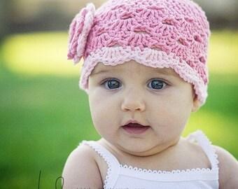 Baby Girl Beanie, Crochet Baby Hat, Newborn Beanie, Baby Newborn Hat, Baby Girl Hat, Pink, Newborn Baby Hat, Newborn Prop