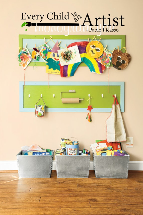 Every Child Is An Artist Wall Decal Playroom Wall Decal