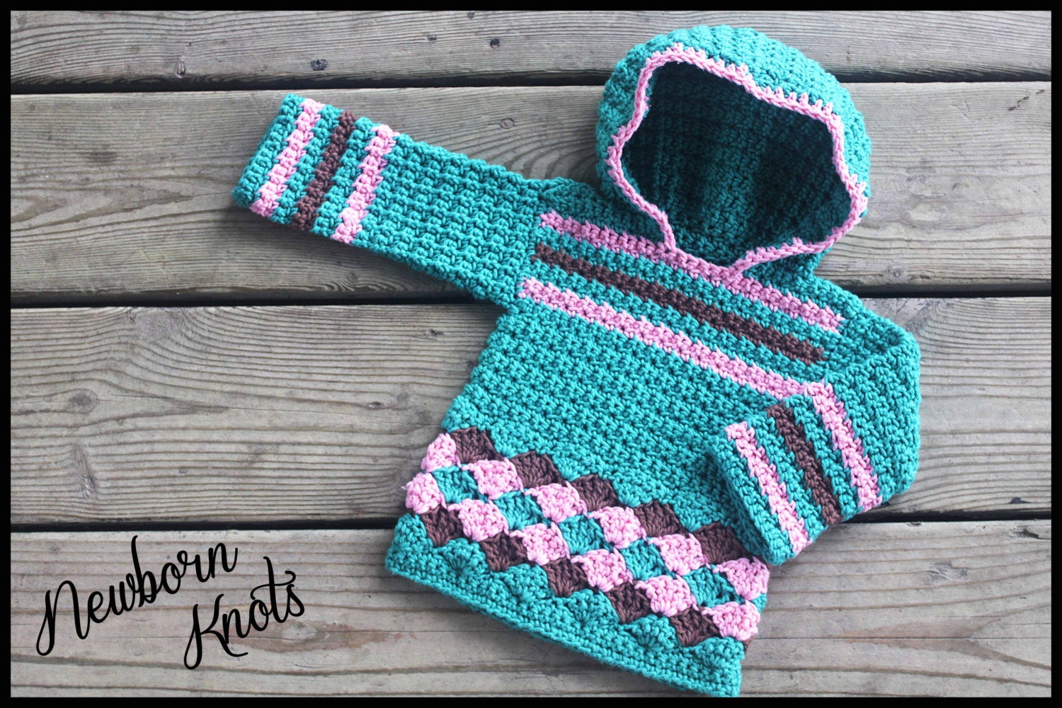 CROCHET PATTERN Hooded Sweater Baby Boy or Girls Pullover