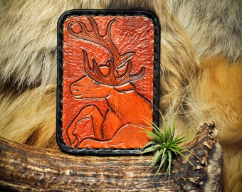 Minimalist Wallet - Leather Card Wallet - Wildlife Wallet