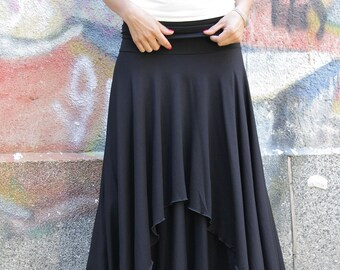 Skirt, Romantic brown long skirt with two layers, maxi skirt, long skirt by UrbanMood - CO-POLA-VL