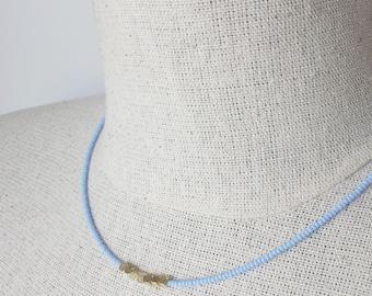 Choker necklace, seed bead choker, dainty choker, blue necklace, lavender necklace,minimalist necklace,delicate necklace,beaded necklace