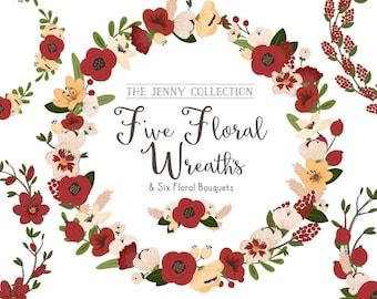 Christmas Floral Wreaths & Bouquets - Christmas Flowers, Christmas Wreaths, Flower Wreaths, Floral Frames, Wedding Wreaths