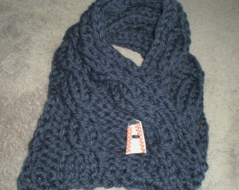 Chunky Knitted Cable Neckwarmer Pattern