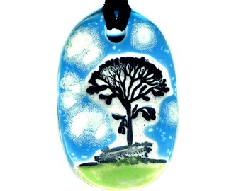 Growing Tree Necklace in Blue