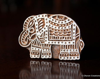 Pottery Stamps, Indian Wood Stamp, Textile Stamp, Wood Blocks, Tjaps, Printing Stamp- Indian Elephant