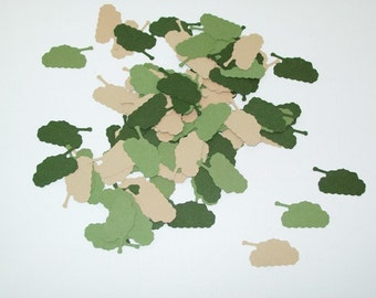 Tank Confetti/ Military/ Welcome Home Party Decorating/ Birthday/ Supplies/ 100 Pieces
