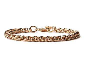 Gold bracelet for men - Mens Jewelry - Modern gold adjustable geometric bracelet - Gifts for him - Layering Bracelet - Stacking bracelet