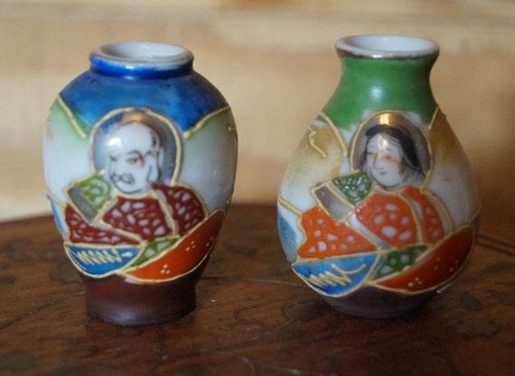 Japanese Vases Occupied Japan Vintage Japan