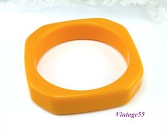 Bangle Bracelet Solid Plastic Butterscotch