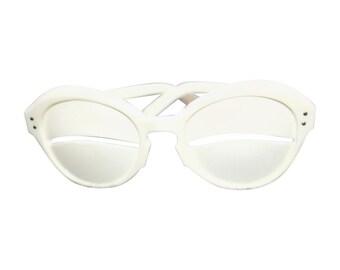Vintage Andre Courrèges Lunette Eskimo Eclipse White Glasses 1964