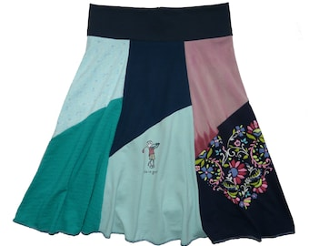 Half Price SALE Women's Small Medium Golfer Skirt Size 4 6 8 Hippie Skirt upcycled skirt top selling tshirt skirt twinkle skirts Twinklewear