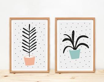 Plantas - prints - 8 x 11.5 - A4 - by Depeapa