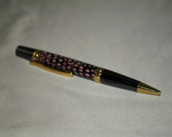 Custom Made Pen with Guinea Feathers