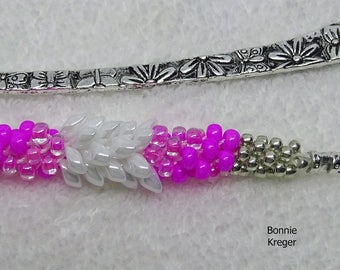 Pink Ribbon Beaded Bookmark