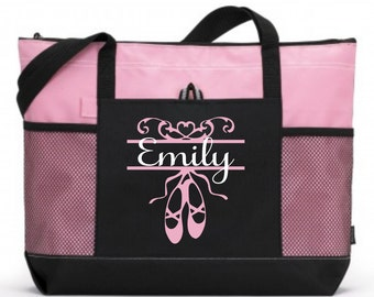 Girl Dance Tote, Personalized Dance Bag, Custom Dance Bag, Tween Dance bag, Teen dance bag