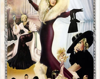 All Things Mae Signed Mae West Poster Colorful Commanding Collectible 24x36