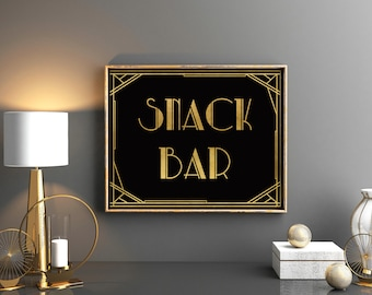 Snack bar art deco | Etsy