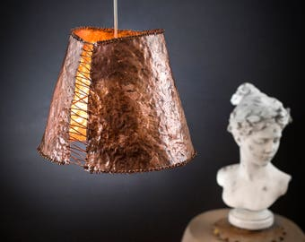 eclectic lighting. Corset: A Feminine Lamp, Hammered Copper Ceiling Light Eclectic Pendant Fixture Lighting
